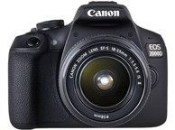 Фотоаппарат DSLR CANON EOS 2000D 18-55 IS II (2728C008) (черный)