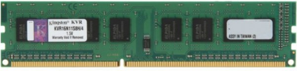 Память KINGSTON 4GB DDR3-1600 PC12800